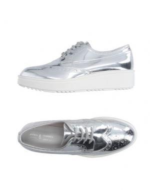 Обувь на шнурках ANTICA CUOIERIA. Цвет: серебристый