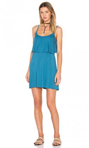 Платье marlow fiesta Michael Lauren. Цвет: синий