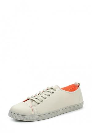 Кеды Sweet Shoes. Цвет: бежевый