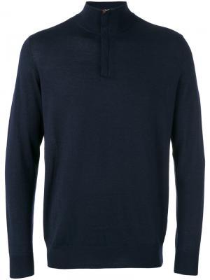 Тонкий свитер на молнии  Regent N.Peal. Цвет: синий