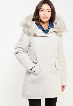 Куртка утепленная Laura Jo. Цвет: белый