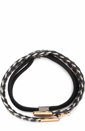 Резинка для волос с плетением Colette Malouf. Цвет: черный