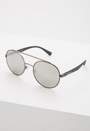 Очки солнцезащитные Emporio Armani. Цвет: серебряный