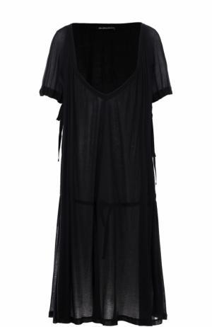 Платье свободного кроя с V-образным вырезом Ann Demeulemeester. Цвет: черный