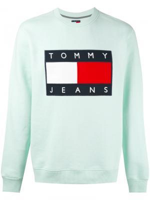 Толстовка с нашивкой логотипа Tommy Jeans. Цвет: зелёный