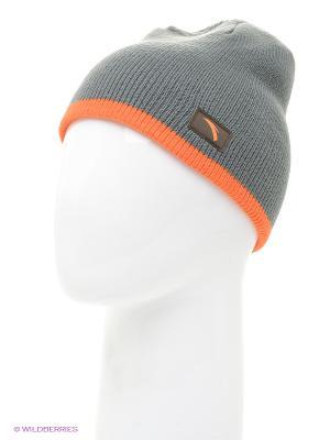 Шапка ANTA. Цвет: оранжевый, серый