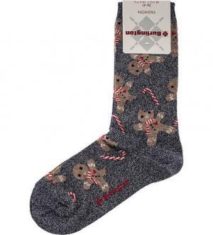 Синие носки с металлизированной нитью Burlington. Цвет: синий