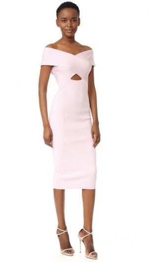 Платье-футляр с вырезом «лодочка» Cushnie Et Ochs. Цвет: розовый