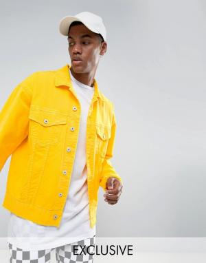 Granted Желтая джинсовая куртка свободного кроя. Цвет: желтый