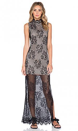 Макси платье motif The Allflower Creative. Цвет: черный