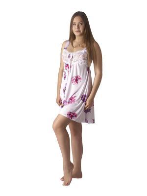 Сорочка ночная Belweiss. Цвет: белый, зеленый, розовый, сиреневый