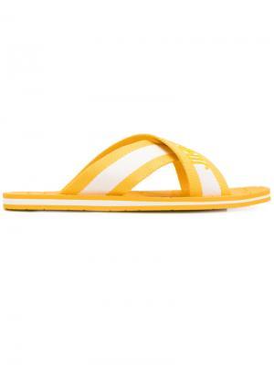 Шлепанцы Clive Jimmy Choo. Цвет: жёлтый и оранжевый