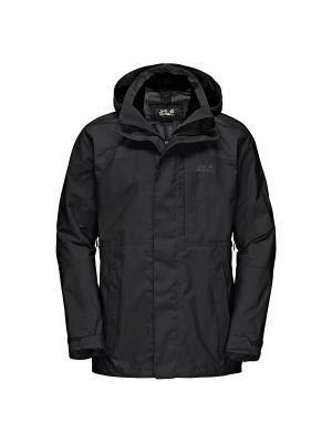 Куртка BROOKS RANGE FLEX Jack Wolfskin. Цвет: черный
