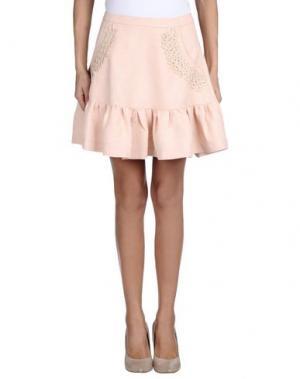 Мини-юбка DRESS GALLERY. Цвет: светло-розовый