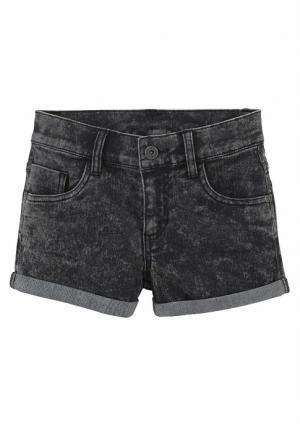 Джинсовые шорты Arizona. Цвет: темно-синий, черный