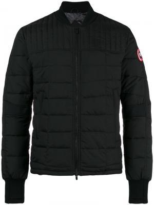 Стеганая куртка Canada Goose. Цвет: чёрный
