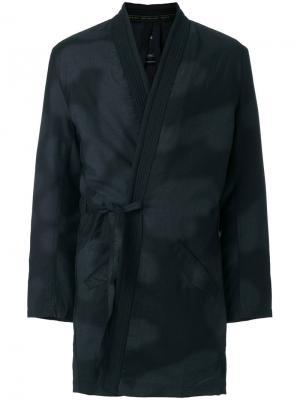 Пальто с камуфляжным принтом Maharishi. Цвет: чёрный