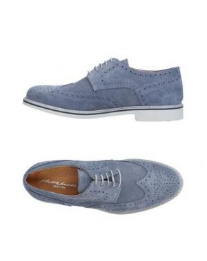 Обувь на шнурках ALBERTO MORETTI. Цвет: грифельно-синий