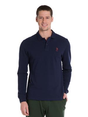 Лонгслив U.S. Polo Assn.. Цвет: темно-синий, темно-бордовый