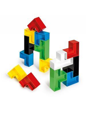 Конструктор Тетрис Quercetti. Цвет: черный, синий, зеленый, красный, желтый, белый