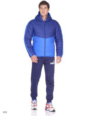 Куртка ESS warmCELL Padded JACKET PUMA. Цвет: синий, голубой