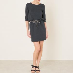 Платье из трикотажа TEMUCO SESSUN. Цвет: серый