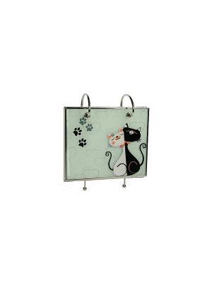 Фотоальбом Кошечка Русские подарки. Цвет: серебристый, серо-зеленый