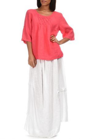 Блуза Couleur lin. Цвет: красный
