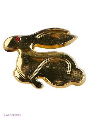 Наклейка 3D Кролик золотой N38  WIIIX. Цвет: золотистый