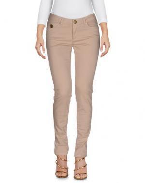 Джинсовые брюки DUCK FARM. Цвет: бежевый
