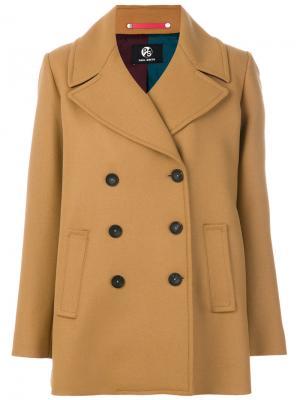 Пальто с большими лацканами Ps By Paul Smith. Цвет: коричневый