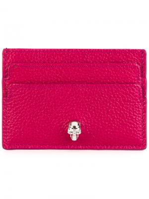 Визитница с элементом черепа Alexander McQueen. Цвет: розовый и фиолетовый
