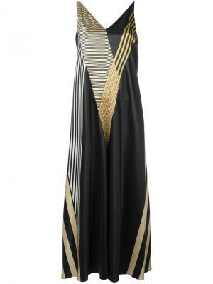 Платье-комбинация Marisa Attico. Цвет: чёрный