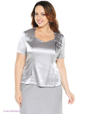 Блузка VENUSITA. Цвет: серый