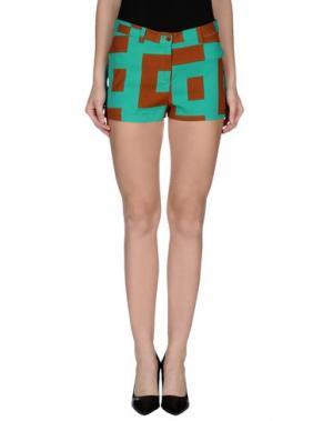 Повседневные шорты LAURA URBINATI. Цвет: зеленый