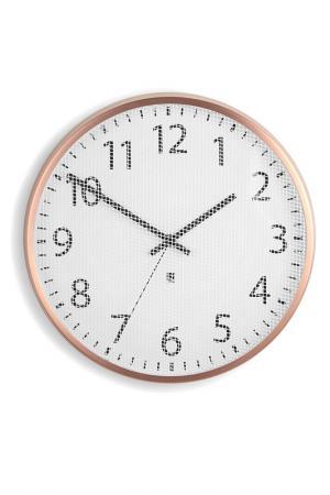 Часы настенные PERFTIME UMBRA. Цвет: белый, медный