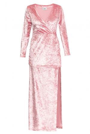 Велюровое платье 159378 Y.amelina. Цвет: розовый