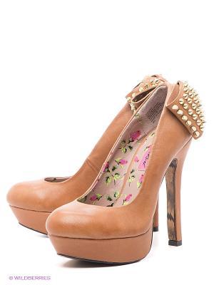 Туфли Betsey Johnson. Цвет: коричневый, золотистый