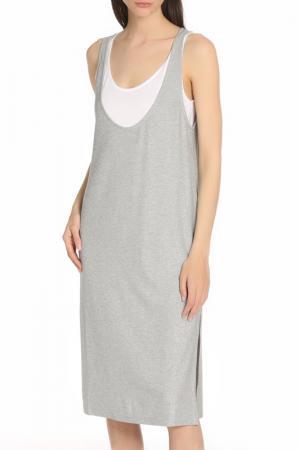 Прямое платье 2в1 Manila Grace. Цвет: 20 серебристый