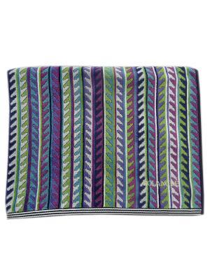 Полотенце банное A and C Collection. Цвет: салатовый, фиолетовый, черный