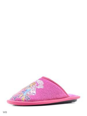 Туфли комнатные с верхом из текстильных материалов детские и подростковые. BRIS. Цвет: розовый