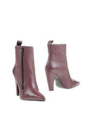 Полусапоги и высокие ботинки WO MILANO. Цвет: красно-коричневый