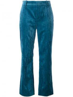 Прямые брюки с эффектом помятости Lanvin. Цвет: синий