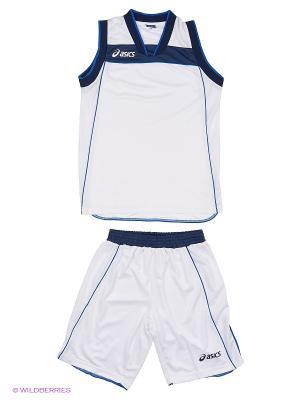 Комплект (майка+шорты) SET LAKE JR ASICS. Цвет: белый, синий