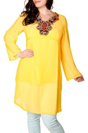 Блуза Zer otantik. Цвет: желтый