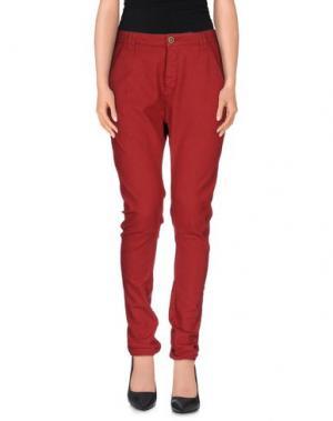 Повседневные брюки SUPERFINE. Цвет: красно-коричневый