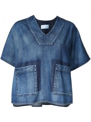 Boxy denim blouse Demoo Parkchoonmoo. Цвет: синий