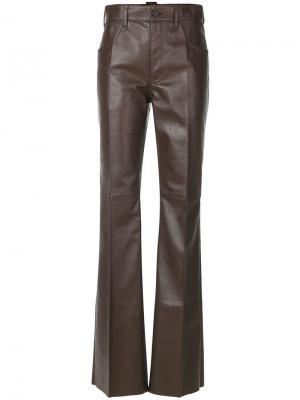 Расклешенные брюки Prada. Цвет: коричневый