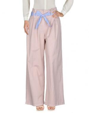 Повседневные брюки MOTEL. Цвет: светло-розовый