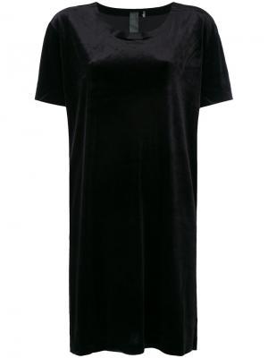 Свободное платье-футболка Norma Kamali. Цвет: чёрный